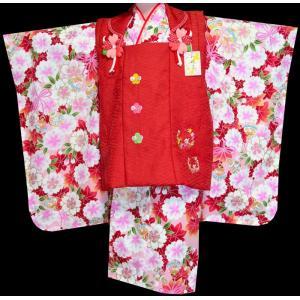 七五三 着物 3歳 753 女の子 被布セット 旧式部浪漫柄被布コートフルセット  3|kidskimonoyuuka