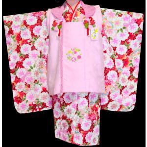 七五三着物 3歳  753 女の子 被布セット 旧式部浪漫柄被布コートフルセット  4|kidskimonoyuuka