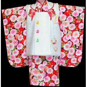 七五三 3歳 着物 753 女の子 被布セット 旧式部浪漫柄被布コートフルセット  5|kidskimonoyuuka