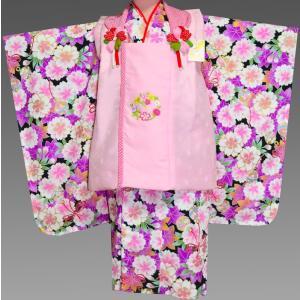 七五三 3歳 着物 753 女の子 被布セット 旧式部浪漫柄被布コートフルセット  7|kidskimonoyuuka