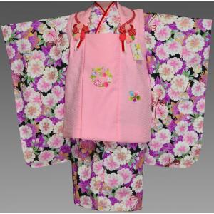 七五三 3歳 着物 753 女の子 被布セット 旧式部浪漫柄被布コートフルセット  10|kidskimonoyuuka