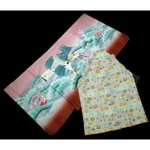 七五三 5歳 着物 羽織 袴 男児着物 花ウサギ羽織袴のフルセット|kidskimonoyuuka