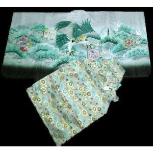 七五三 5歳 着物 羽織 袴 男児着物 花ウサギ羽織袴のフルセット2|kidskimonoyuuka