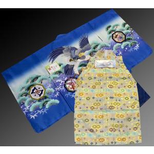 七五三 5歳 着物 羽織 袴 男児着物 花ウサギ羽織袴のフルセット5|kidskimonoyuuka