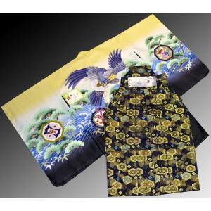 七五三 5歳 着物 羽織 袴 男児着物 花ウサギ羽織袴のフルセット6|kidskimonoyuuka