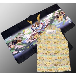 七五三 5歳 着物 羽織 袴 男児着物 花ウサギ羽織袴のフルセット8|kidskimonoyuuka