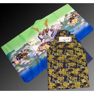七五三 5歳 着物 羽織 袴 男児着物 花ウサギ羽織袴のフルセット10|kidskimonoyuuka