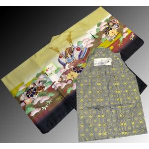 七五三 5歳 着物 羽織 袴 男児着物 花ウサギ羽織袴のフルセット11|kidskimonoyuuka