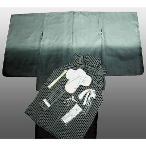 七五三着物 男児着物 5歳高級正絹羽織 袴のフルセット 紋付グレー日本製|kidskimonoyuuka
