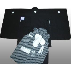 七五三着物 男児着物 5歳高級正絹羽織 袴のフルセット 黒紋付日本製|kidskimonoyuuka