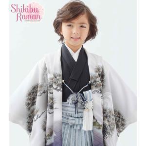 式部浪漫 七五三着物 753 男児着物 5歳羽織 袴のフルセット 2017年 SR5青|kidskimonoyuuka