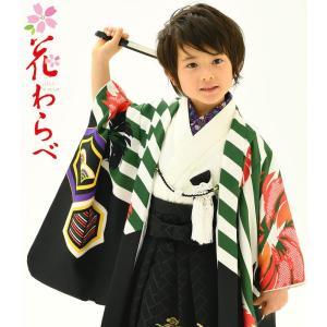 花わらべ 七五三着物 753 5歳着物  羽織 袴のフルセット 2019年 WI20|kidskimonoyuuka