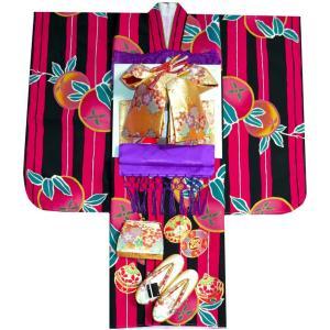 七五三着物 753 7歳着物22点 フルセット FROM KYOTO刺繍入り|kidskimonoyuuka