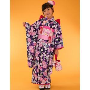 七五三着物 7歳着物 キクチリョウコ振り袖フルセット 紫|kidskimonoyuuka