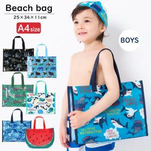 子供用 キッズ 男の子柄 スイムバッグ プールバッグ 水泳バッグ ビーチバッグ ビニールバッグ ウズランド UZULAND ボーイズ
