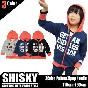 在庫処分 韓国子供服SHISKYピンク切り替えジップアップパーカー 子供服キッズミオ|kidsmio