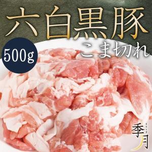 豚肉 こま切れ 六白黒豚 家計庭応援 メガ盛り 500g 250g×2パック 真空パック