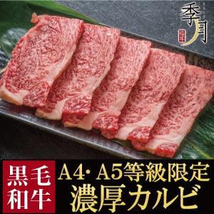 焼肉 盛り バーベキュー A5A4等級 黒毛和牛 濃厚カルビ 400g