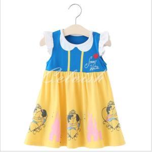 スノーホワイト白雪姫 風 プリンセスドレス コスプレ 子供ドレス  衣装 仮装 USJ C-19580012|kigurumishop