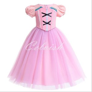 ディズニー ラプンツェル 風 プリンセスドレス コスプレ 子供ドレス  衣装 仮装 USJ C-19580231 kigurumishop