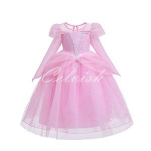 シンデレラ 風 プリンセスドレス コスプレ 子供ドレス  衣装 仮装 ピンク ドレス C-19580333PK|kigurumishop