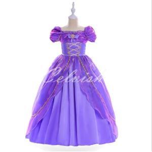 ディズニー ラプンツェル風 プリンセスドレス コスプレ 子供ドレス  衣装 仮装 USJ C-1958S1908 kigurumishop