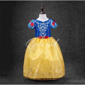 ディズニー ◇ コスプレ ドレス スノーホワイト 白雪姫 風 プリンセスドレス 子供 ドレス 衣装 仮装 USJ C-2857D093A|kigurumishop