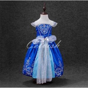 シンデレラ 風 ディズニー プリンセスドレス  子供 ドレス 衣装 仮装 ゆうパケット 当日発送可!送料無料  C-2857D093B-S|kigurumishop
