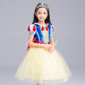 ディズニー ◇ コスプレ ドレス 白雪姫 スノーホワイト 風 プリンセスドレス 子供 ドレス 衣装 USJ  C-2858S1800|kigurumishop