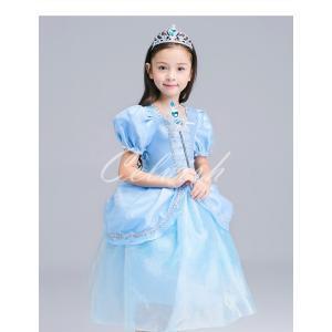 ディズニー ◇ コスプレ ドレス シンデレラ風 プリンセスドレス 子供 ドレス 衣装 USJ  C-2858S1809|kigurumishop