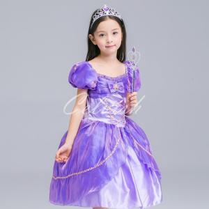 ディズニー ◇ コスプレ ドレス ラプンツェル 風 プリンセスドレス 子供 ドレス 衣装 USJ  C-2858S1900 kigurumishop