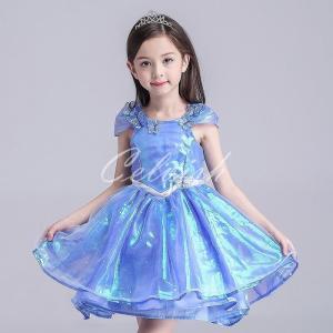 ディズニー ◇ コスプレ ドレス シンデレラ風 プリンセスドレス 子供 ドレス 衣装 USJ  C-2858XK14|kigurumishop