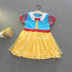 ディズニー ◇ コスプレ ドレス スノーホワイト 風 プリンセスドレス 子供 ドレス   衣装 C-29581942BY|kigurumishop