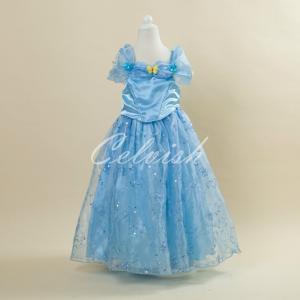 ディズニー ◇ コスプレ ドレス シンデレラ 風 プリンセスドレス 子供 ドレス 衣装 C-2958AT0313-2|kigurumishop