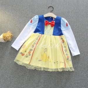 白雪姫 スノーホワイト 風  長袖 プリンセスドレス コスプレ ドレス  子供 ドレス  衣装 仮装 C-2958L149|kigurumishop