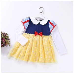 白雪姫 スノーホワイト 風  長袖 プリンセスドレス コスプレ ドレス  子供 ドレス  衣装 仮装 C-2958L312|kigurumishop