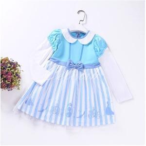 シンデレラ 風 長袖 プリンセスドレス コスプレ ドレス 子供 ドレス 衣装 仮装 C-2958L456|kigurumishop