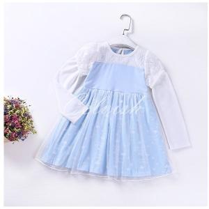 シンデレラ 風 長袖 プリンセスドレス コスプレ ドレス 子供 ドレス 衣装 仮装 C-2958L666|kigurumishop