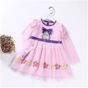 オーロラ 風 長袖 プリンセスドレス コスプレ ドレス 子供 ドレス 衣装 仮装 C-2958L917|kigurumishop