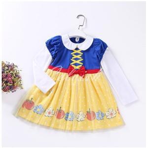 白雪姫 スノーホワイト 風  長袖 プリンセスドレス コスプレ ドレス  子供 ドレス  衣装 仮装 C-2958L937|kigurumishop