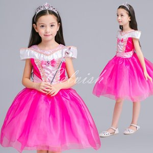 ディズニー ◇ コスプレ ドレス オーロラ 風 プリンセスドレス 子供 ドレス 衣装 USJ  C-2958S1802|kigurumishop