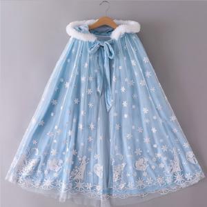 プリンセスマント 子供 ドレス マント ブルー ホワイト プレゼント c-3058887mt| セルビッシュアップ 【宅配】|kigurumishop