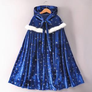 プリンセスマント 子供 ドレス マント ブルー ホワイト クリスマス プレゼント C-3058B393|kigurumishop
