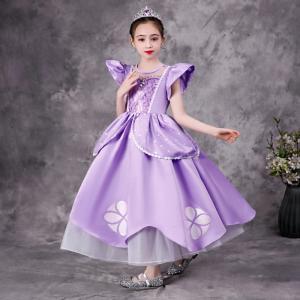 気分はソフィア姫 パープルソフィア大好き プリンセスドレス 子供 ドレス 衣装 C-3058K74 kigurumishop
