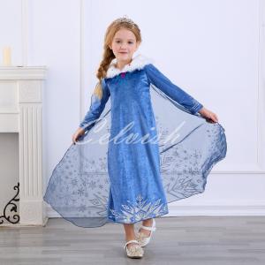 ディズニー アナと雪の女王 エルサ 風 プリンセスドレス 子供 衣装 お姫様ドレス USJ  C-3...