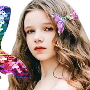 ワンポイント髪飾り キラキラ 人魚 ヘアピン オシャレ 可愛い かわいい 子供 女性 女の子 アクセサリー アリエルカラー アクセ  お姫様 プリンセス インスタ|kigurumishop