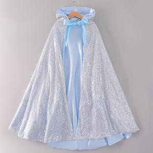 プリンセスドレス 子供 ドレス 衣装 キラキラ プリンセスマント ブルー ハロウィン クリスマス CEL-1342B211-L| セルビッシュアップ|kigurumishop