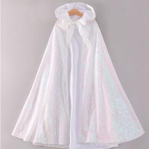 プリンセスドレス 子供 ドレス 衣装 キラキラ プリンセスマント ホワイト ハロウィン クリスマス CEL-1342B211-W| セルビッシュアップ|kigurumishop