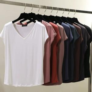 トップス Tシャツ ちょっとスリーブ 柔らか素材 通気性 きれいめ カジュアル ゆったり 上品  春 夏 秋 kigurumishop