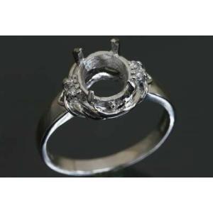 〔限定品〕A260-13z0620【オーバル8ミリx6ミリ】ダイヤ入りPt900リング空枠|kiho
